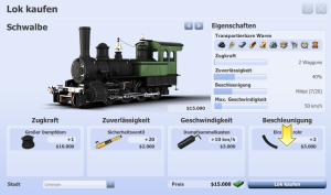 Rail Nation Browsergame - Lok kaufen